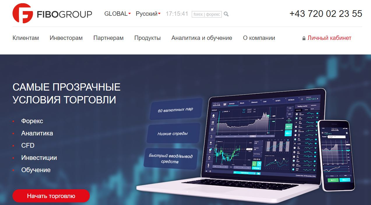платформы брокера fibogroup