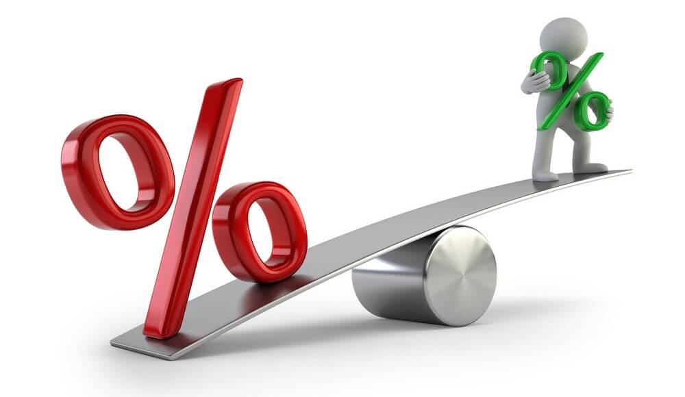 проценты и рублевый счет