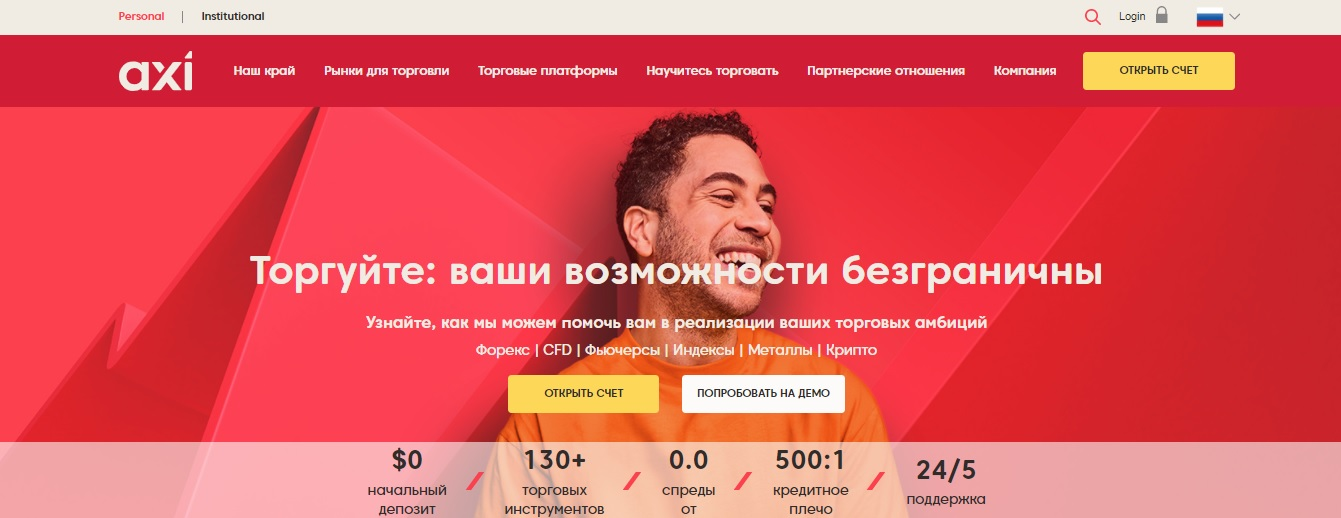 официальный сайт axitrader
