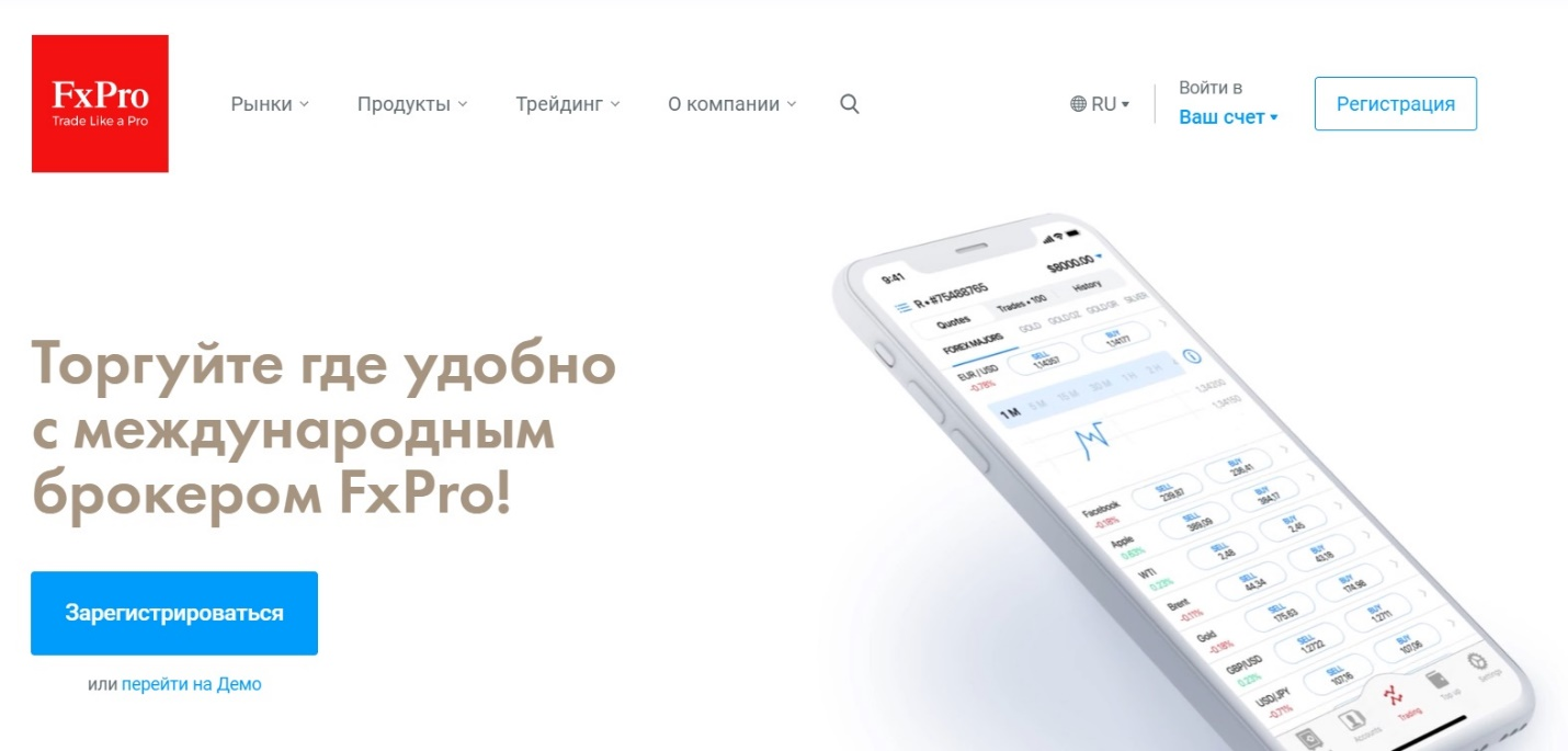 обзор торговли у брокера fxpro
