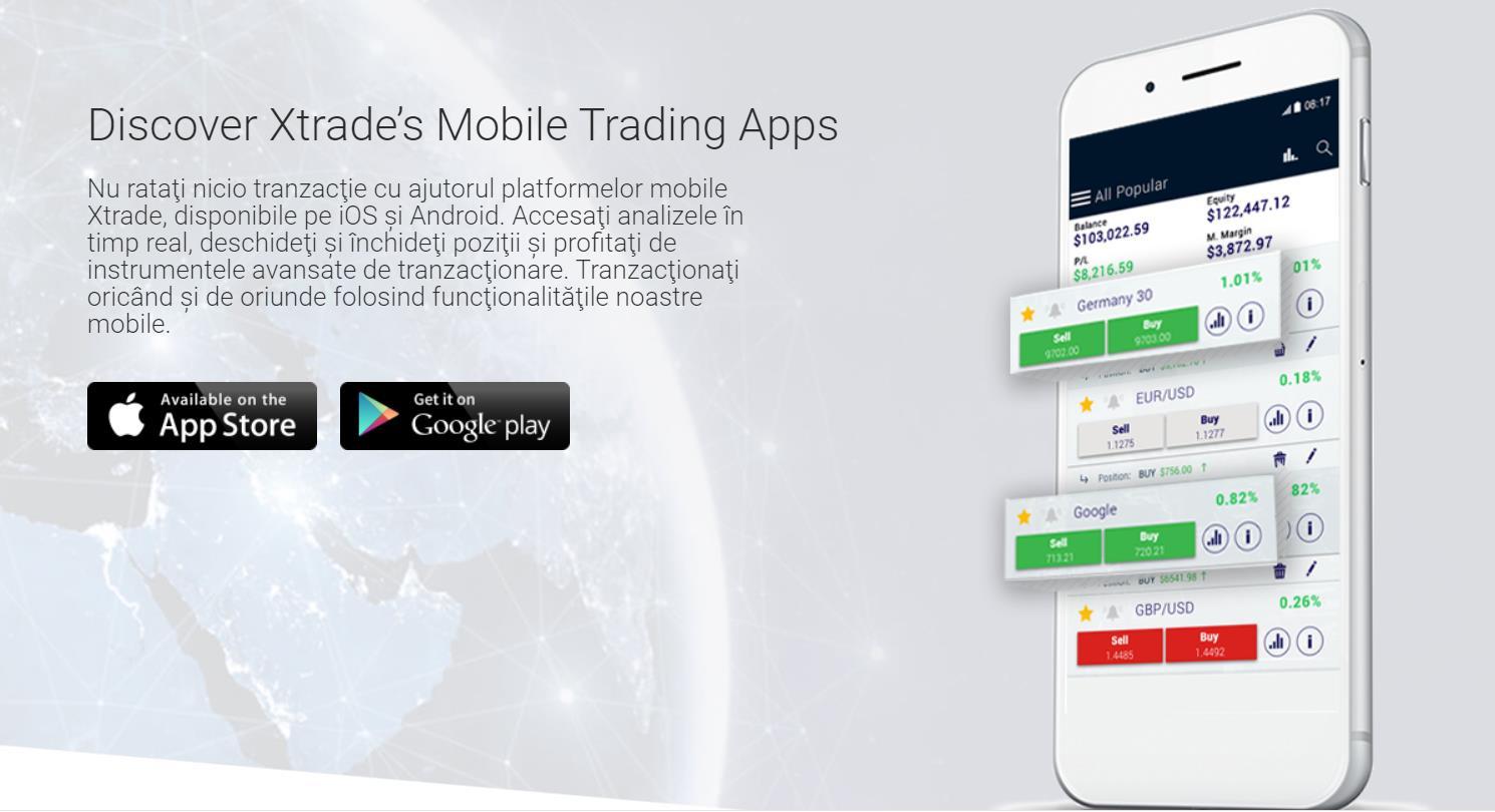 xtrade мобильная платформа