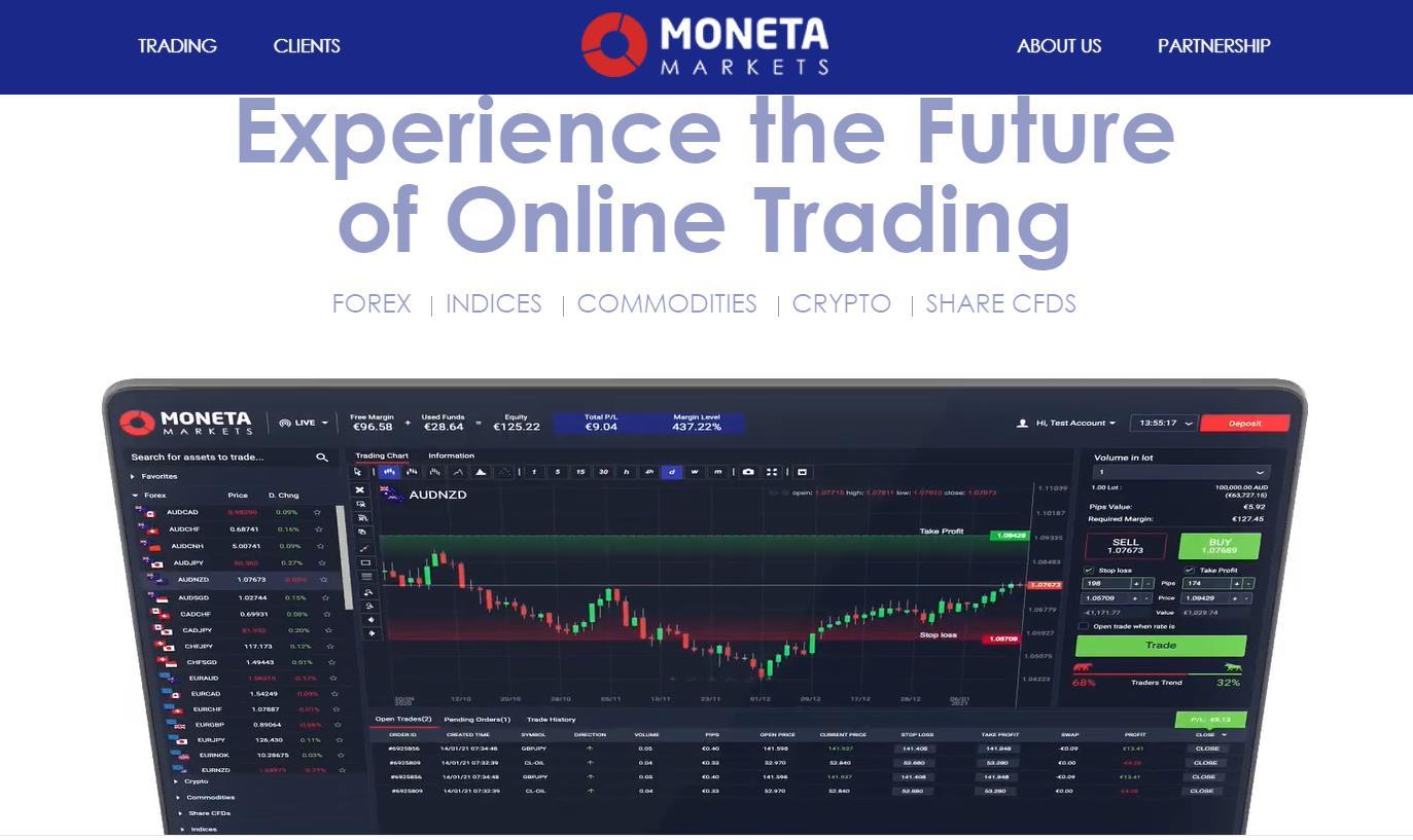 сайт брокера moneta markets