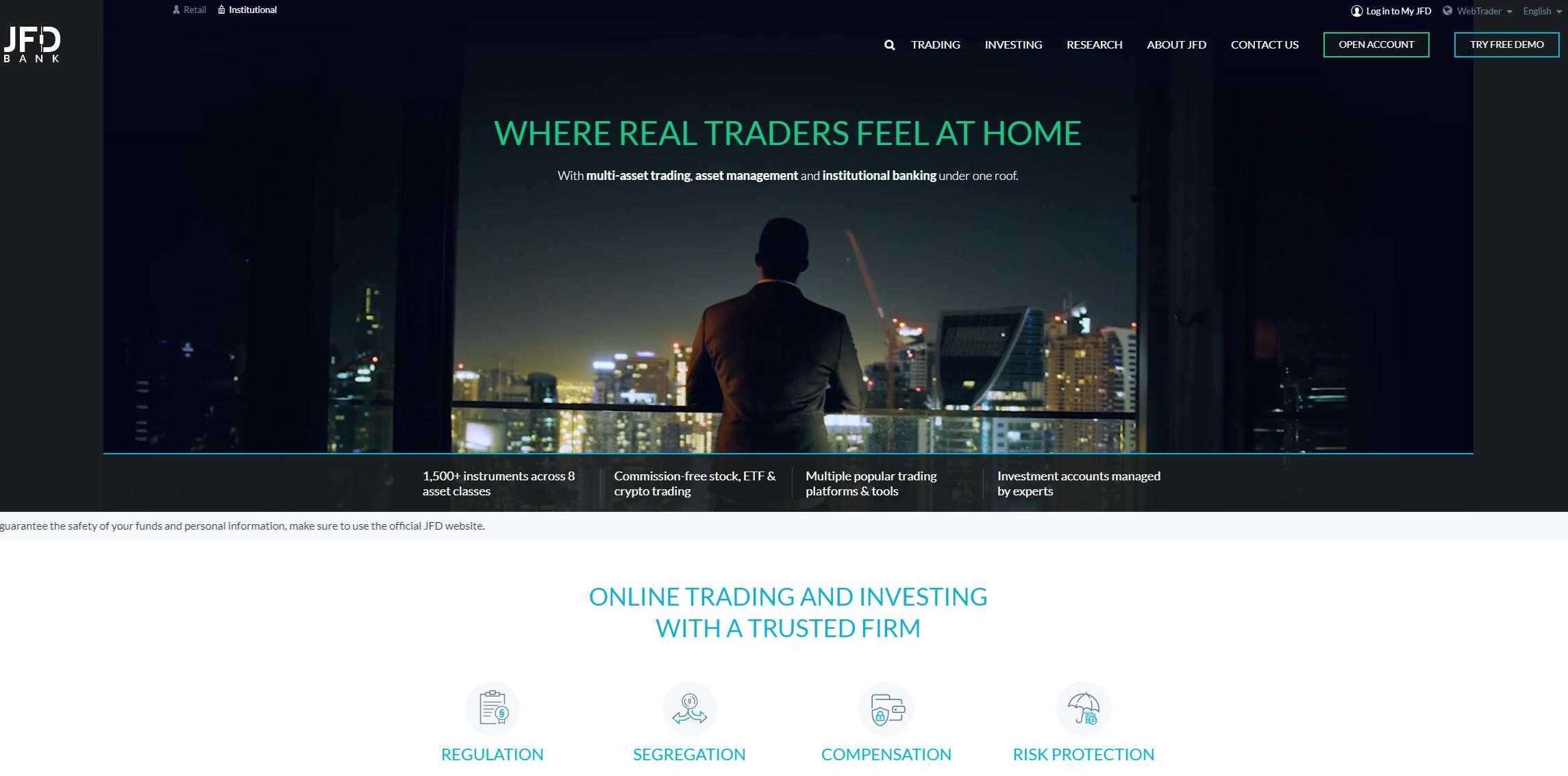 jfd brokers сайт брокера